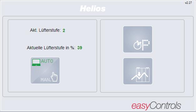 Helios KWL Wohnraumlüftung konfigurieren